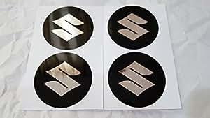 4 x 55mm Diamètre SUZUKI Centre de roue Cap autocollant emblème auto-adhésif Pour surfaces planes cher Prix