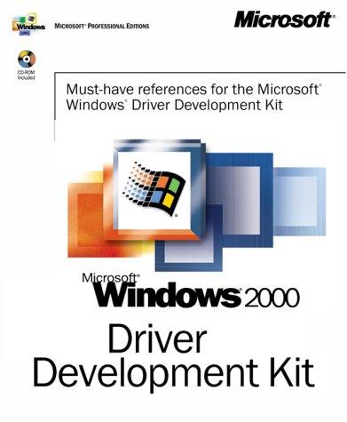 Microsoft Windows 2000 Driver Development Kit, 3 vols. w. CD-ROM (Dv-Mpe Software Dev. Kit) Dv-kit