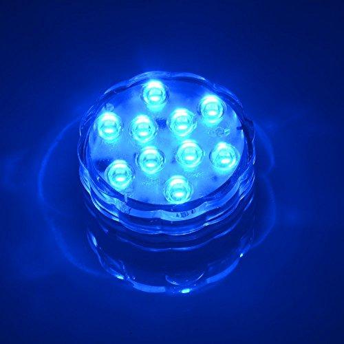 Ulako luz impermeable con 10LED para jarrones, impermeable, multicolor, RVA, sumergible, submarina, durable y práctica, bombilla para casa o boda, fiesta, incluye mando a distancia