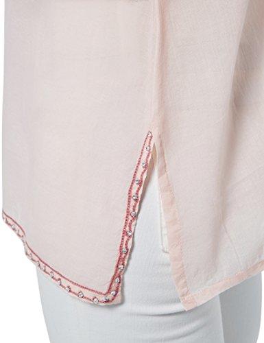 Berydale Damen Tunika mit Stickerei, Perlen & Steinen Rosa (Rosa/Altrosa)