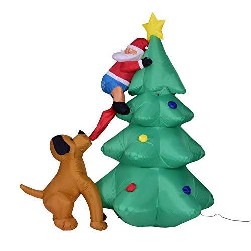 YANKAN Selbstaufblasbare Dekoration Weihnachtsbeleuchtung • Gartendekoration LED-Beleuchtung,(1,8 Meter Lange Aufblasbare Hund Wenig Aufblasen Es Weihnachtsbaum Alten Mans Auf BäUmen) (Mens Aufblasbare)