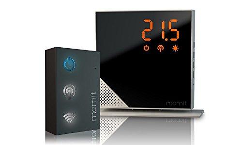 momit Home Thermostat Starter Kit Steel Silver Termostato Intelligente, (7 Giorni Programma Termostato)