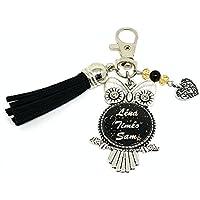 Porte clés prénom avec Swarovski chouette porte clés personnalisé - Idée cadeaux