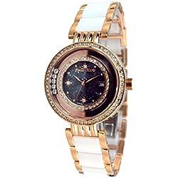 Stella Maris Women's Wrist Watch - Analog Quartz - Premium Ceramic Strap - Mother-of-pearl Dial - Diamonds and Swarovski Elements - STM15SM15