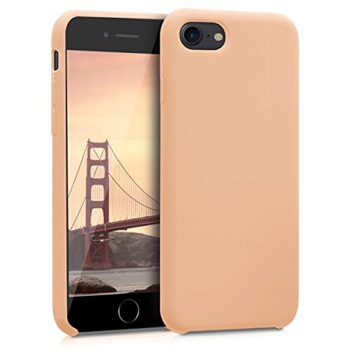 kwmobile Apple iPhone 7/8 Cover - Custodia per Apple iPhone 7/8 in Silicone TPU - Back Case Cellulare Pesca Pastello