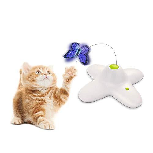 All for Paws - Mariposa interactiva para Gato con Dos Mariposas Intermitentes de Repuesto