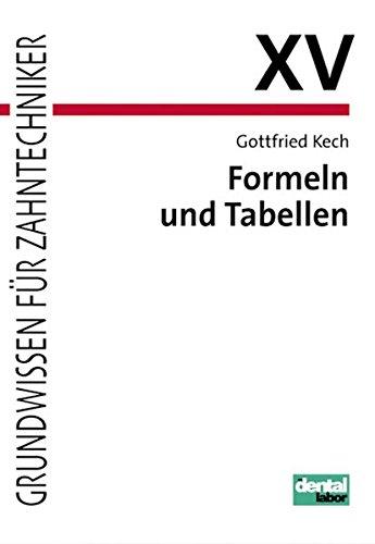 Formeln und Tabellen -