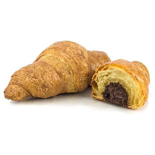 Vestakorn Handwerksgebäck, Schoko-Croissants - frisches Feingebäck - Französisches Butter-Croissant mit Schokolade, 2x3 Stück, selbst aufbacken in 6 Minuten
