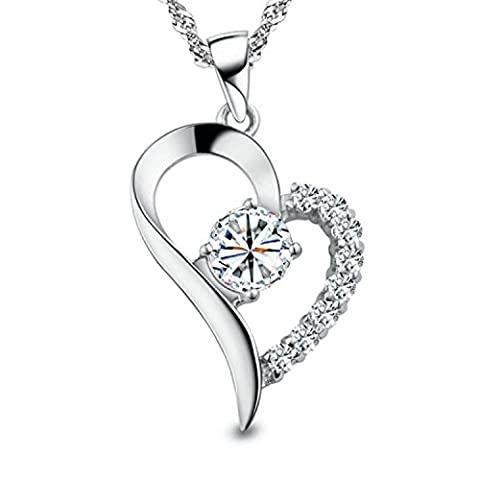 SJS Collection Forever In My Heart Rhodium Plated Sterling Silver