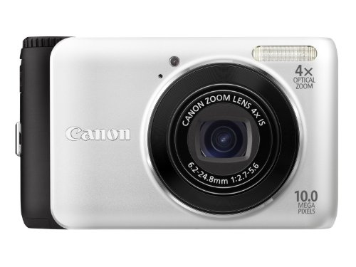 Canon PowerShot A3000 IS Digitalkamera (10 MP, 4-fach opt. Zoom, 6,7cm (2,7 Zoll) Display) silber 10 Mp, 2.7 Lcd