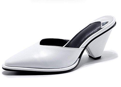 Frau Sommer Sandalen und Pantoffeln mit weiblichen Sandalen spitzen Schuhen geformt white slippers