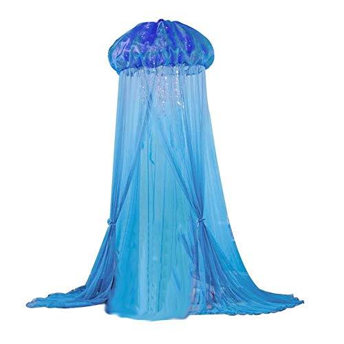Sommer quallenförmige Bettvorhänge Quallen Kinderfensterbänke Netze Moskitonetze Kinderquallen-Zelte für Kinder (Wand-moskitonetz)