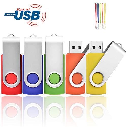 5pezzi usb chiavetta usb 2.0flash drive pollice mixcolors 2 4gb