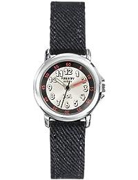 Trendy Kiddy - KL304 - Montre Mixte - Quartz Analogique - Cadran Gris - Bracelet Tissu Noir