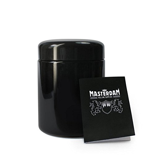 400 Glass Storage ((250ml Standard) - Masterdam Jars 250ml StashShield UV Glass Jar - Airtight Smell-Proof Ultraviolet Storage Stash Jar Container Refillable Tall Wide-Mouth)