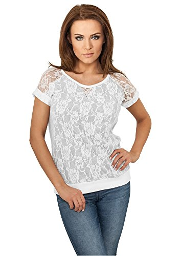 Urban Classics Ladies Double Layer Laces Tee White white