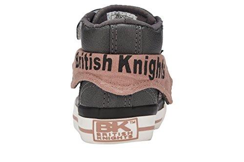 British Knights ROCO GARÇONS HAUT-DESSUS SNEAKER GRIS/SABLE