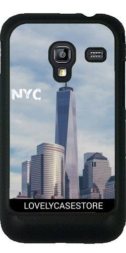 Lovelycasestore Custodia per Samsung Galaxy Ace Plus S7500 - One World Trade Center East River Sunset USA New York