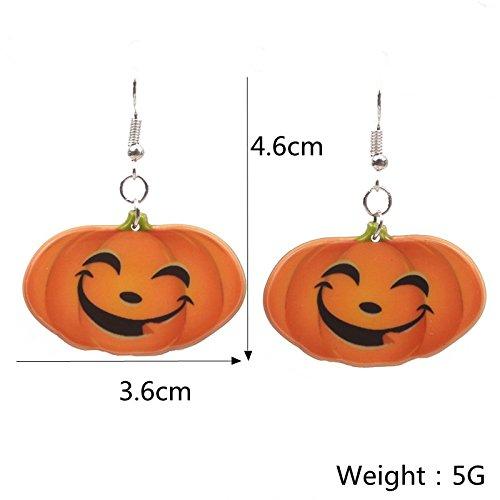 lianji Halloween-Ohrringe, Kürbis-Ohrringe, Geschenk für Maskerade Kostüm, Legierung, Small Pumpkin, Approx 5.5x3.5cm