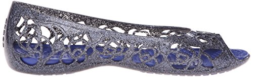 Crocs CrocsIsabella Glitter - Ballerine Basse con Punta Aperta da Ragazza' Blu (Navy/Cerulean Blue)