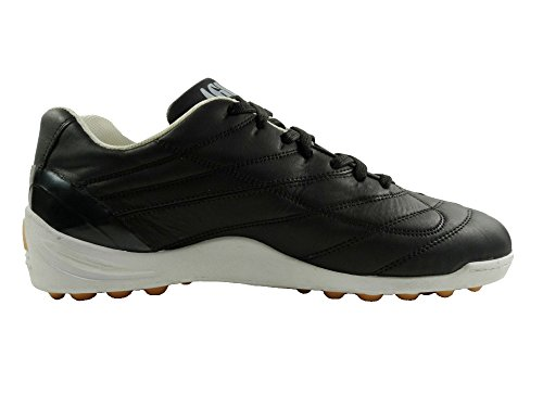 AGLA Professional FANTHOM Air Outdoor Scarpe Calcetto in Pelle con Anti-Shock Nero