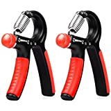 2 Pack Hand Grip Strengthener Strength Trainer Adjustable Resistance 22-88 Lbs Hand Exerciser Non-slip Gripper for Athletes P