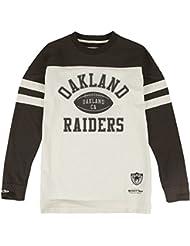 "Oakland Raiders Mitchell & Ness NFL ""Swing Pass"" Men's Heavyweight L/S Shirt Chemise"
