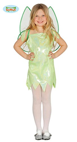 Grünes glitzernes Feenkostüm mit Flügeln für Kinder Kinderkostüm Feenflügel Mädchenkostüm Kleid Feen Grün Fee Gr 98-140, Größe:110/116