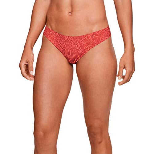 Under Armour PS Thong 3Pack Print Ropa Interior, Mujer, Rosa (Pink Fog/Level Purple 694), S