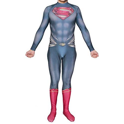 WEGCJU Superman Kleidung Film Body,A-XL