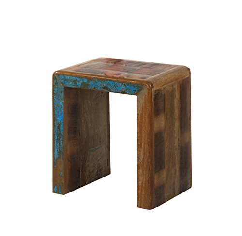 92-98 2-Satz-Tisch, recyceltes Altholz, bunt lackiert (Altholz Tisch)