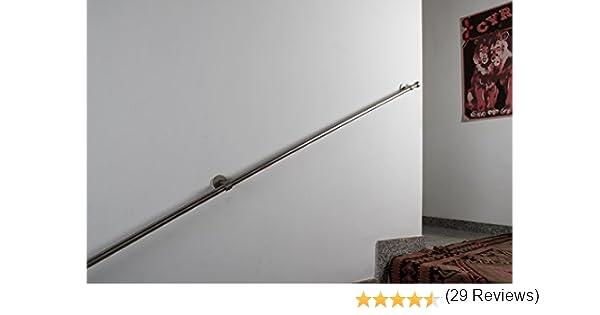 complet d/ébit de 80 kg Main courante: diam/étre 20 mm L en acier satin/é 450 cm
