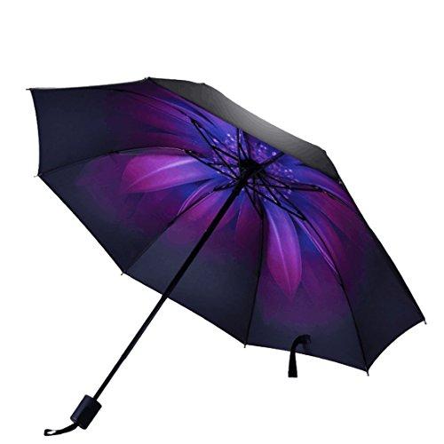Yahuyaka Regen Licht Windproof Reise Auto Golf Outdoor & Reverse invertiert kompakte Sonnenschirm (Color : 2)