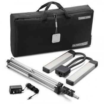 GLAMCOR Classic Elite Kit - HD Tageslicht-LED Lampe mit biegbaren Doppelköpfen