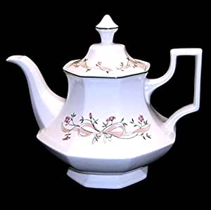 ETERNAL BEAU - JOHNSON BROTHERS - 6 CUP TEA POT L/S -NEW UK MADE - RETIRED by Johnson Bros