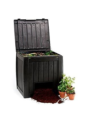 Keter 17196661 Komposter Deco Composter 350 L, Holzoptik, Kunststoff, braun von Keter - Du und dein Garten