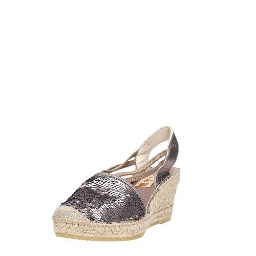 Vidorreta 18400 Sandalo Donna Tessuto Topo