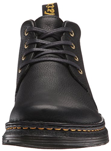 Dr.Martens Mens Lea Grizzly Leather Boots Black