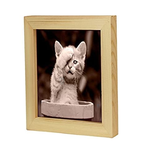 OverDose Home Decor Wooden Picture Frame Wall Mounted Hanging Photo Frame 5 inch/6 inch/7 inch