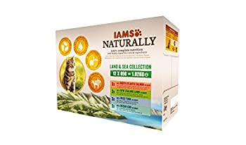 IAMS Sauce Humide Naturally pour Chat Adulte Terre&Mer 12 x 85 g