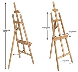 staffelei rom ideal f r kinder aus feiner buche k che haushalt. Black Bedroom Furniture Sets. Home Design Ideas