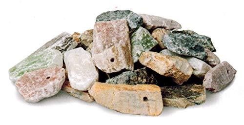 artdee® Speckstein Amulett-Anhänger mit Loch - Rohlinge (15 Stück)