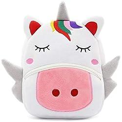 Mochila Unicornio para niños - Mochila cómoda y esponjosa Viajes, jardín de Infantes y Escuela