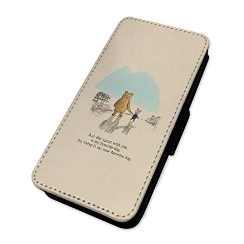 Pretty retro Pooh quote–Flip cover in pelle copertura di carta Apple iPhone 5C