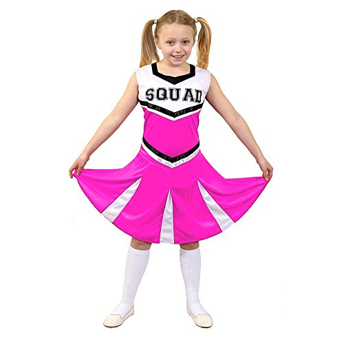 ve Fancy Dress ilfd7097l Kinder Cheerleader Fancy Kleid Kostüm mit Squad Print und Faltenrock (groß) (Mädchen Rosa Cheerleader Kostüme)
