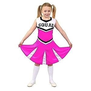 I Love Fancy Dress. ilfd7097l infantil Disfraz de animadora con Squad ImpresióN y falda (Tamaño Grande)