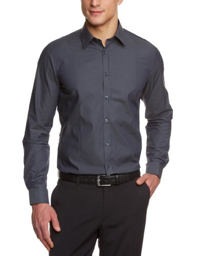 Venti Herren Businesshemd  001470/75, Gr. 41, Grau (75 anthra)