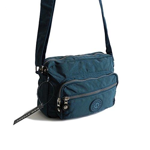 Bag Street kleine Umhängetasche Schultertasche Tasche Freizeit Nylon Bodybag Citytasche - präsentiert von ZMOKA® (Blau)