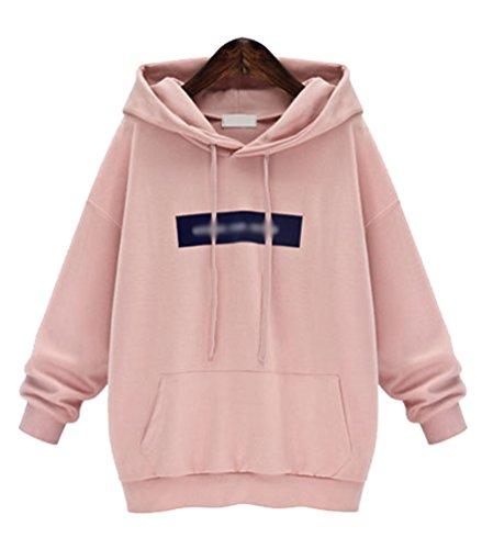 Womens Printed Hooded Sweatshirt Casual Pullover Jumper Tops Oversized Hoodies