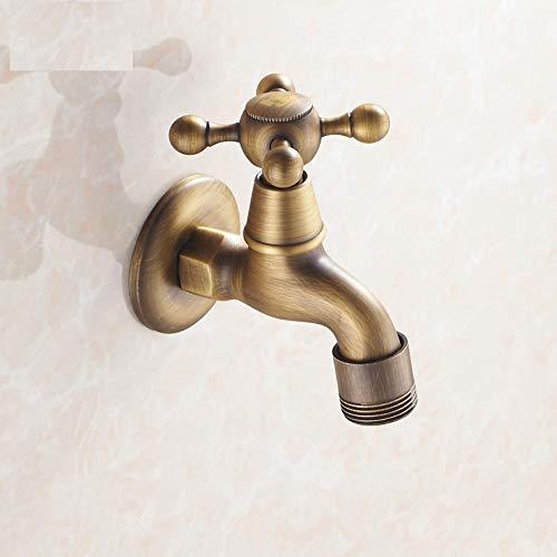 JONTON Alle Kupfer antike automatische Waschmaschine Wasserhahn 4 Punkte europäischen einzigen kaltem Mop Pool Wasserhahn Siemens 6 Punkte